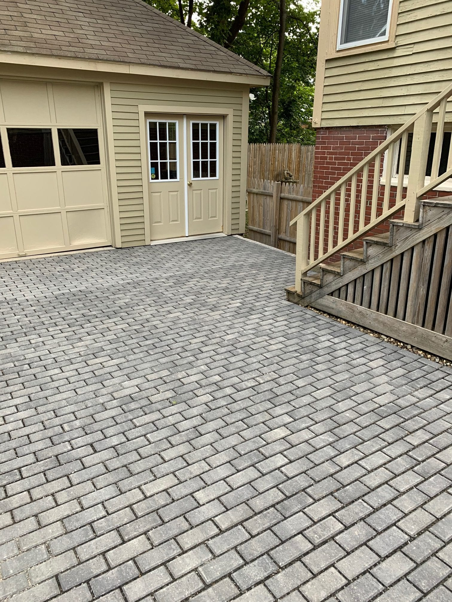 Stone Paver Driveway Edging (After)